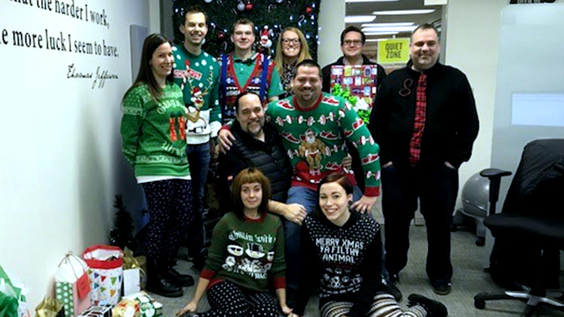 Ugly Sweater Party At The Customer Care Centre Herman S